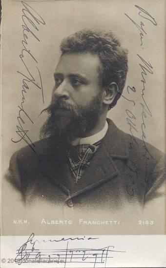 Foto con autografo del M. Alberto Franchetti.