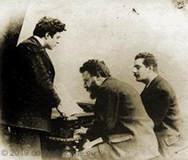 Il M. Franchetti con Mascagni e Puccini.