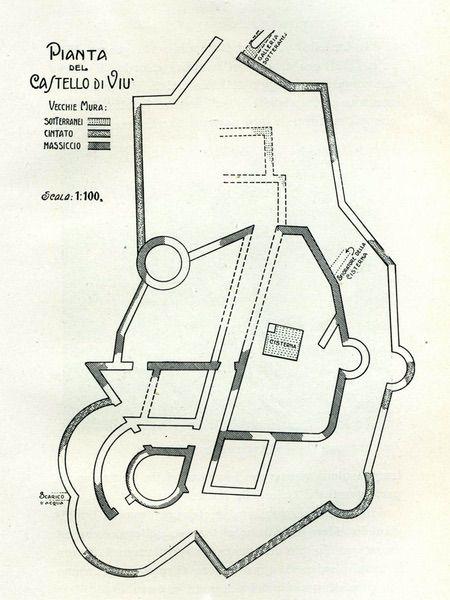 pianta del castello di Viù