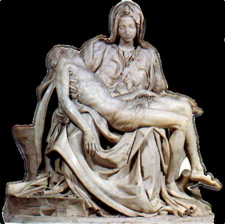 Davanti alla Pietà di Michelangelo